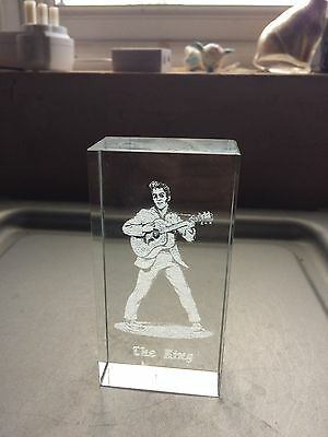 Crystal Clear Collectables Lazer Art Glass - Elvis The King
