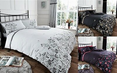 New Duvet Quilt Cover Poly Cotton Bedding Set With Pillow Case All Size