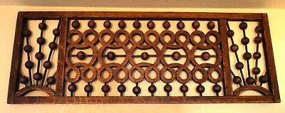 Antique Victorian Gingerbread Oak Fretwork - Detailed and Fancy Ball & Stick