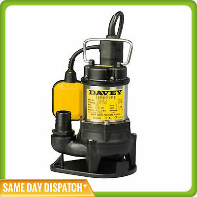 Davey D15VA Multi-purpose Vortex Sump Pump for Grey Water and small soft solids