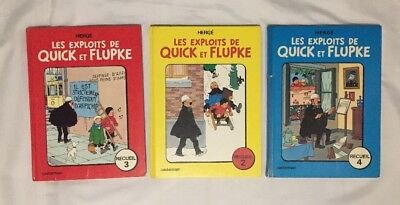 Lot BD - Quick et Flupke 2 3 4 / COULEUR  /  HERGE / CASTERMAN