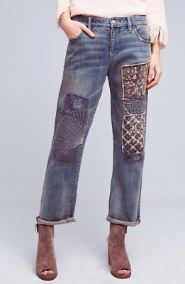 NWT $168 Anthropologie Pilcro Hyphen Mid-Rise Boyfriend Jeans Size 28 *TOP RATED