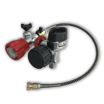 Air rifle gas cylinder 300bar 4500psi pcp valve SCBA & fill station & hose