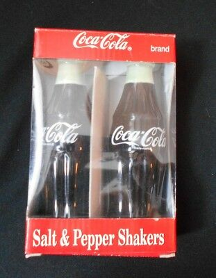 Vintage Coca Cola Bottle Salt & Pepper Shakers - NEW in BOX