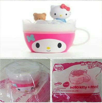 HELLO KITTY MY MELODY TEA CUP McDonalds Happy Meal Toy NEW SEALED IN BAG