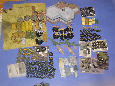 Axis and Allies miniatures lot of 145 Axis Figures with German Custom 3d Bunker