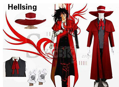 Athemis New Vampire Hunter Cosplay Hellsing Alucard Costumes Cool Man Suit Hallo