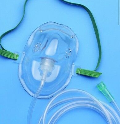 Oxygen Mask with 7 feet tubing - x1 Pack -  Medical Grade - Heavy Duty FAST SHIP