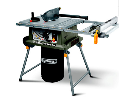 ROCKWELL 15-Amp 10-in carbide-tip Laser indicator Table Saw model fold out fence