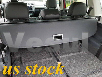 For Volkswagen VW Tiguan 2018 Rear Trunk Cargo Cover Black Updated Version