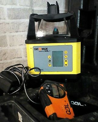 10'bk  Geomax ZONE 50AR Rotating Laser Level with Remote, OBL LR300 unit