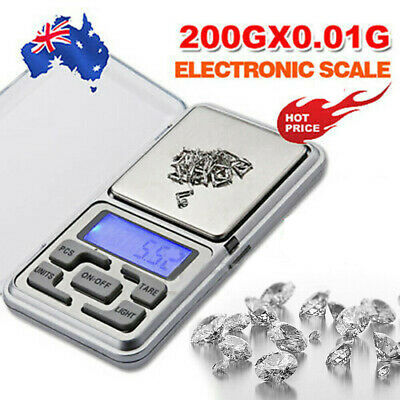 High Precision 200g 0.01 Electronic Digital Pocket Jewellery Scales Melbourne AU