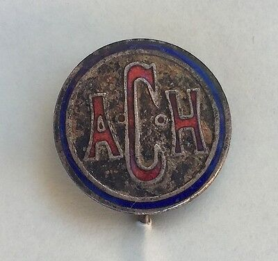 Vintage A.c.h. Stick Pin Badge From Adelaide