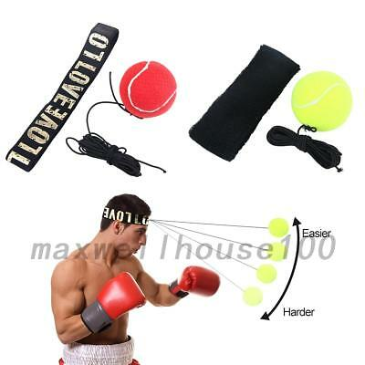 Boxing Reflex Fight Punch Ball With Head Band Speed Training Tool Kit Relief
