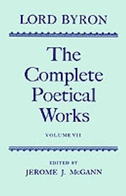 NEW The Complete Poetical Works: Volume 7 by Lord George... BOOK (Hardback)