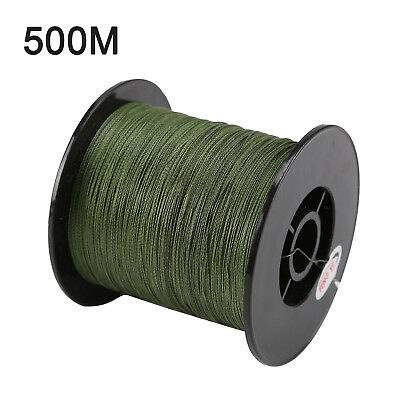 500 M 30 LB 0.26mm Camo fishing line strength PE Braided 4 Strands green Coarse
