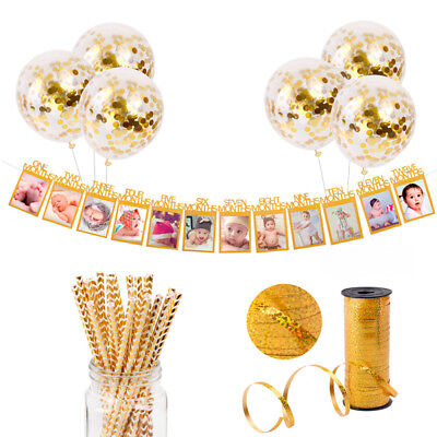 Gold Series Themes Birthday Party Baby Shower Adult Decor Paper Confetti Balloon
