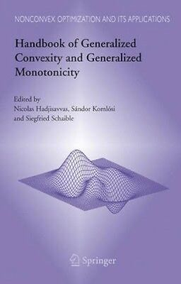 NEW Handbook Of Generalized Convexity And Generalized... BOOK (Hardback)