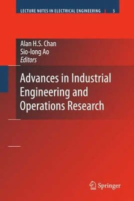 NEW Advances In Industrial Engineering And Operations Research BOOK (Hardback)