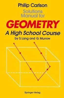NEW Solutions Manual For Geometry by Philip Carlson BOOK (Paperback) Free P&H