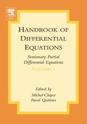 NEW Handbook Of Differential Equations: Stationary Partial... BOOK (Hardback)
