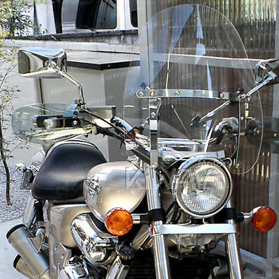 "KiWAV 16""x18"" clear windshield screen for Harley Softail with Mounting kit α"