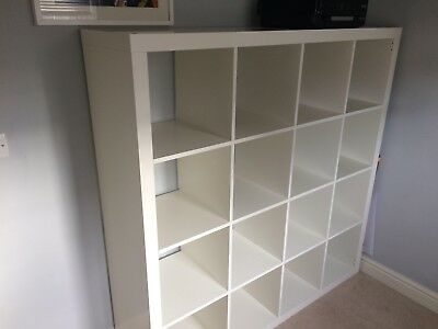 IKEA EXPEDIT (now KALLAX) 4x4 square White shelving / storage unit & IKEA EXPEDIT (NOW KALLAX) 4x4 square White shelving / storage unit ...