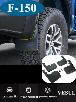 For Ford F150 2015-2018 Mud Flaps Molded Splash Guards w/o Fender Flares 4Pcs