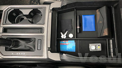 For Ford F-150 F150 2015-2018 Car Center Console Armrest Storage Tray Box Black