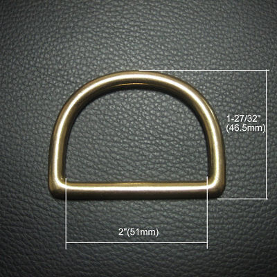 """2"""" Cast Solid Brass D Ring Pack of 2"""