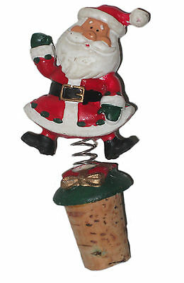 Christmas Santa Jingle Top Bottle Rocker for Wines and Other Liquor