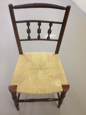Antique Vintage Wooden Chair With Cane Seat Ex Condition