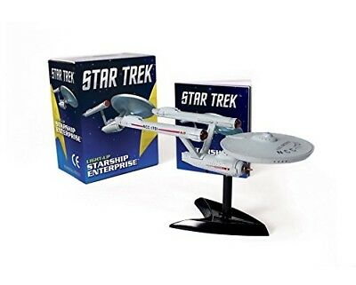 Star Trek: Light-Up Starship Enterprise  (Miniature Editions) + Book OVP-neu-new