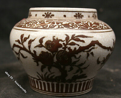 15 Chinese Wu Cai Colour Porcelain Handmade pomegranate Pot Jar Jug Cans Tank