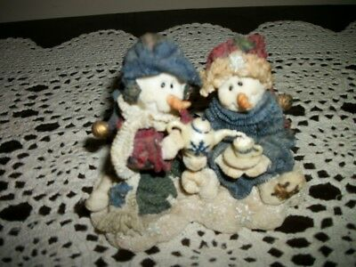 Boyds Bears & Friends CICELY & JUNEAU ICED TEA PARTY Wee Folkstones Snow People