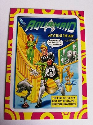 2014 Topps Wacky Packages Series 1 Aquamaid Master Of The Mop #10 Ridiculous