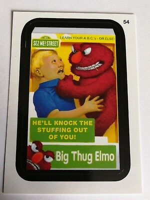 2014 Topps Wacky Packages Series 1 Mint Big Thug Elmo #54 Sesame Street Card