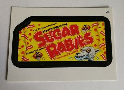2014 Topps Wacky Packages Series 1 Mint Mouth Watering Sugar Rabies #23 Card
