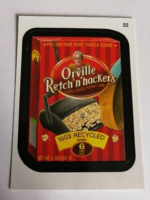 2014 Topps Wacky Packages Series 1 Mint Orville Retch n Hackers Popcorn #22 Card