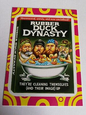2014 Topps Wacky Packages Series 1 Mint Rubber Duck Dynasty #5 Terrible TV Card