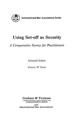 NEW Using Set-Off As Security by F.W. Neate BOOK (Hardback) Free P&H