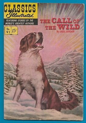 Classics Illustrated Comic Book 1952  Call of the Wild #91  by Jack London  #314