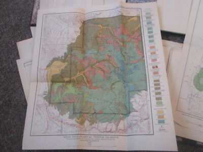Antique Lot 3 USGS Annual Volumes Total of 34 Vintage Topo Old MAPS 1897-1899