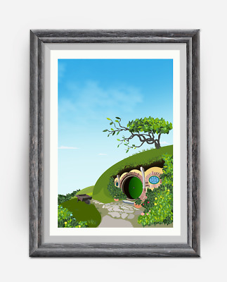 The Lord of the rings - Hobbit - Hobbiton Travel Print