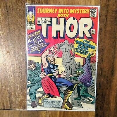 Journey Into Mystery #106 - MR. HYDE COBRA THOR Marvel Comics 1964