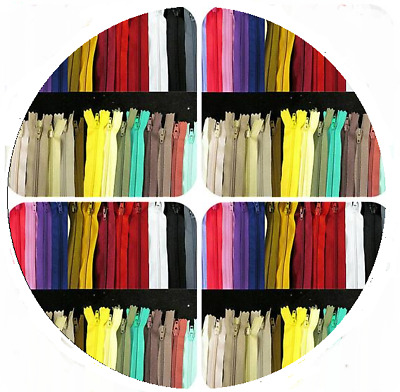 Closed End Nylon Zips 20 inch & 22 inch  Wholesale Packets of 10