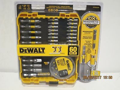 DEWALT MAXFIT Magnetic Screwdriving Set Drill Driver Bits w Screw Lock 60 Piece