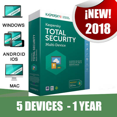 Kaspersky Total Security multi devices 2018 5 Pc devices 1 year Original