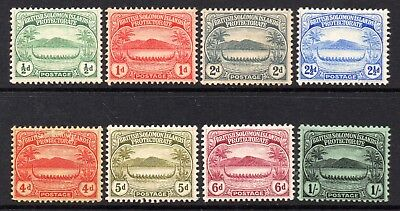 Solomon Islands 1908 EDVII Canoes p/set (8v. inc 1/-) mint