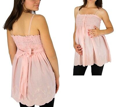 Pink Solid Maternity Sleeveless Top New Solid Blouse Pregnancy Top Vintage